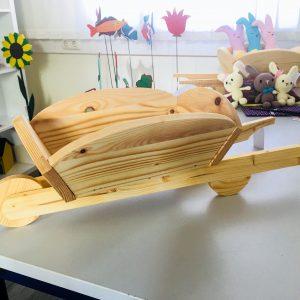 Schubkarre Holz